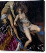 Tarquin And Lucretia Canvas Print