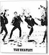 The Beatles Black And White Watercolor 01 Canvas Print