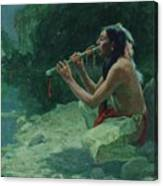 The Call Of The Flute Canvas Print