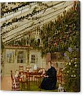 The Family Of Mr  Westfal In The Conservatory  Canvas Print
