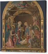 The Nativity With Saints Altarpiece  Canvas Print