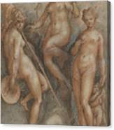 Three Goddesses  Minerva, Juno And Venus Canvas Print