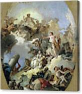 The Apotheosis of the Spanish Monarchy, c1765 Canvas Print