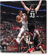 Toronto Raptors V Los Angeles Clippers Canvas Print