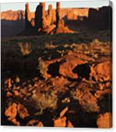Totem Pole Formation At Sunset Canvas Print