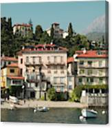 Town In The Shore Of Lake Como Canvas Print