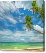 Tropical Beach, Siquijor Island Canvas Print