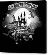 tshirt Just Here Chillin grayscale Canvas Print