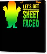 tshirt Lets Get Sheet Faced horizontal rainbow Canvas Print