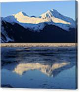 Turnagain Arm And Kenai Mountains Alaska Canvas Print