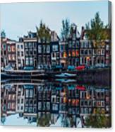 Typical Dutch Houses Reflections Canvas Print