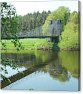 Union Bridge At Horncliffe On River Tweed Canvas Print