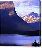 Usa, Montana, Glacier Np, Mountains Canvas Print