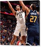 Utah Jazz V New Orleans Pelicans Canvas Print