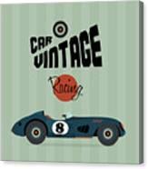 Vector Vintage Sport Racing Car Canvas Print