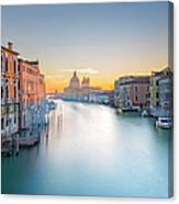 View From Accademia Bridge On Grand Canvas Print