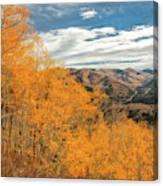 View Of Peaks Canvas Print