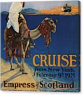 Vintage Poster -  Mediterranean Cruises Canvas Print