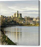 Warkworth Castle And River Aln Canvas Print