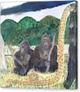 warriors of Bwindi Impenetrable  Canvas Print