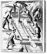 Washing Ore To Extract Gold, 1683 Canvas Print