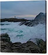 Waves Hitting The Rocks Canvas Print