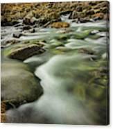Winter River Rapids Canvas Print