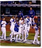 World Series - New York Mets V Kansas Canvas Print