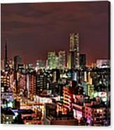 Yokohama Nightscape Canvas Print