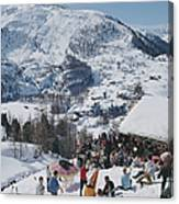 Zermatt Skiing Canvas Print