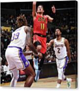 Atlanta Hawks V Los Angeles Lakers Canvas Print