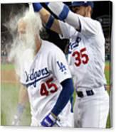 Colorado Rockies V Los Angeles Dodgers 10 Canvas Print