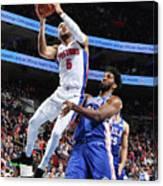 Detroit Pistons V Philadelphia 76ers Canvas Print