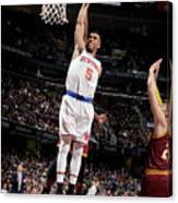 New York Knicks V Cleveland Cavaliers Canvas Print