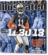 11-30-13 War Damn Miracle Auburn Shocks Bama Sports Illustrated Cover Canvas Print