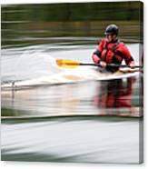 Cedar Strip Kayak Canvas Print