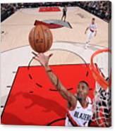 San Antonio Spurs V Portland Trail Canvas Print