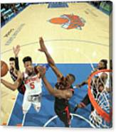 Toronto Raptors V New York Knicks Canvas Print