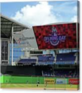 Atlanta Braves V Miami Marlins Canvas Print