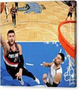 Portland Trail Blazers V Orlando Magic Canvas Print
