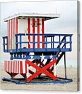 13th Street Lifeguard Tower - Miami Beach Canvas Print