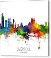 Liverpool England Skyline Canvas Print
