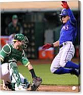 Texas Rangers V Oakland Athletics 14 Canvas Print