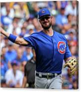 Chicago Cubs V Milwaukee Brewers 15 Canvas Print