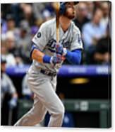 Los Angeles Dodgers V Colorado Rockies 15 Canvas Print