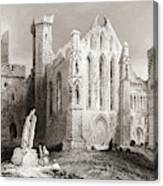 Ruins At Cashel, From The South, Connemara, County Galway, Ireland Canvas Print