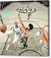 Charlotte Hornets V Brooklyn Nets Canvas Print