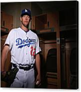 Los Angeles Dodgers Photo Day 18 Canvas Print