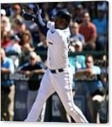New York Yankees V Seattle Mariners Canvas Print