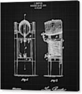 1876 Brewing Cooler - Black Blueprint Canvas Print